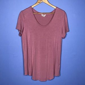 Helmut Lang Scoop Neck Pink Modal T-Shirt Large